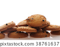 Chocolate chip cookie isolated in white background 38761637