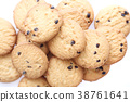 Chocolate chip cookie isolated in white background 38761641