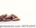 Chocolate chip cookie isolated in white background 38761645