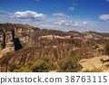 Landscape of monasteries of Meteora in Greece  38763115