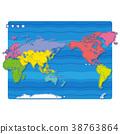 แผนที่โลก,แผนที่,อเมริกา 38763864