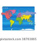 世界地圖 地圖 世界 38763865