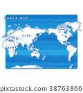 Sekai地圖白色背景圖(英語) 38763866