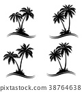 Palm Trees Silhouettes 38764638