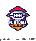 ball, football, logo 38764804