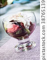 Mixed ice cream with kiwi 38765139