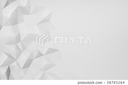 Chaotic abstract white structure, 3d render illustration 38765264