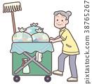 在清洁车上工作的高级人员 38765267