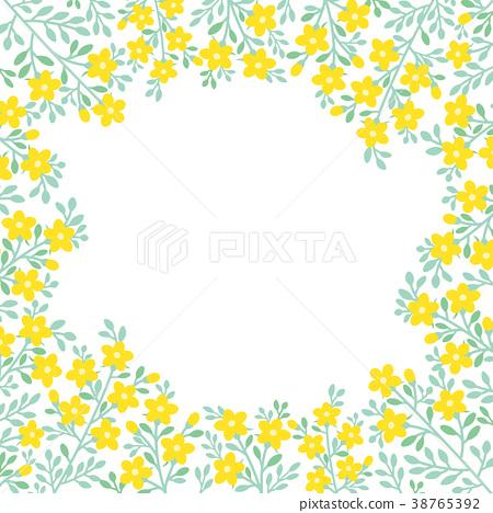 Yellow Flower Wreath Frame Stock Illustration 38765392