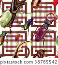 Exotic beetles wild insect pattern in a watercolor 38765542