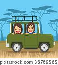 Safari Travel Couple 38769565