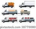 vector, truck, template 38770080