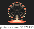 Ferris wheel. Attraction from the amusement park 38770453