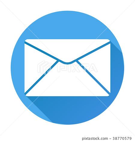 Envelope icon. Mail symbol. White silhouette on 38770579