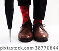 Men's legs in bright socks and stylish shoes 38770644