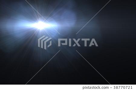 Abstract image of sun burst lighting flare. 38770721