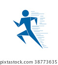 Running man. Vector graphics. Graphic modern  38773635
