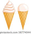 icecream, gelato, cone 38774044