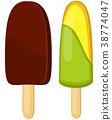 冰棍 冰棒 冰淇淋 38774047
