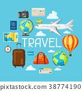 旅行 插图 矢量 38774190