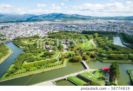 五棱郭公園(五棱郭塔的景色)北海道函館市*照片攝於2017年10月 38774819