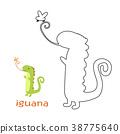 Kids coloring page - iguana 38775640