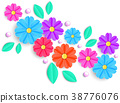 flowers,leaves and beads 38776076