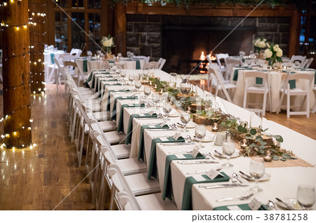 Head Wedding Table at Reception - Stock Photo [38781258] - PIXTA