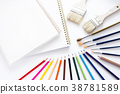 색연필 미술 용품 38781589