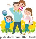 ครอบครัว,ฤดูใบไม้ผลิ,เดิน 38781648