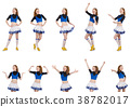 Cheerleader isolated on the white background 38782017