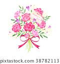 어머니의 날 꽃다발 메시지 카드 문자가 38782113