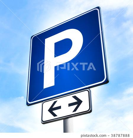 Car parking sign 38787888