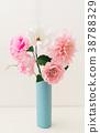 Crepe paper flower bouquet 38788329