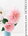 Crepe paper flower bouquet 38788333