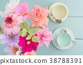 Crepe paper flower bouquet 38788391