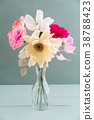 Crepe paper flower bouquet 38788423