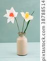 Crepe paper flower bouquet 38788514