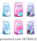 Vector realistic set of washing powder in sachet 38788812