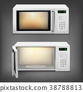Vector realistic microwave oven with light inside 38788813