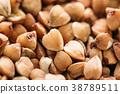 Buckwheat Background, Texture. Healthy Food. 38789511