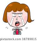 哭泣的女人在哭 38789815