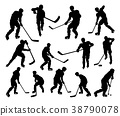 Sports Hockey Player Silhouettes 38790078