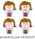 표정, 여성, 여자 38790347