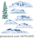 Snow-capped Mountains and Hills. 38791009