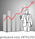 Businessman showing thumb up with graph up  38791293