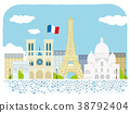 Paris cityscape illustration 38792404