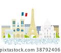 파리 거리 풍경 일러스트 38792406
