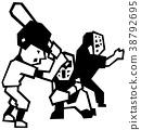 baseball, baseballs, monochrome 38792695