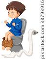 Boy going to toilet 38793916